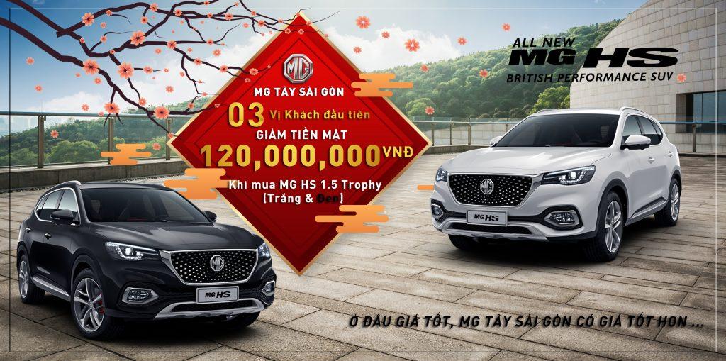 MG HS 1.5 Trophy - Ưu đãi tiền mặt 120,000,000 VNĐ